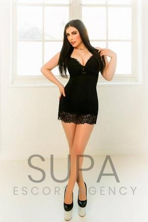 Anita in black dress