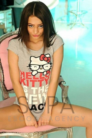 Kandy in Hello Kitty shirt
